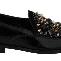Dolce & Gabbana Black Leather Dress Loafers Shoes