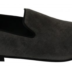 Dolce & Gabbana Gray Slippers Dress Formal Loafers Shoes