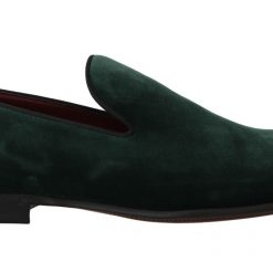 DG Green Suede Leather Slippers Loafers